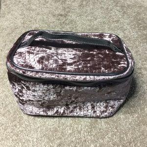 Ulta Beauty Textured Velour Makeup Bag with Handle